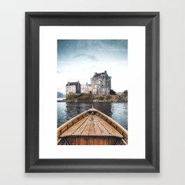 The Boat and the Castle-Scotland Framed Art Print