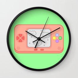 Cute cloud console Wall Clock