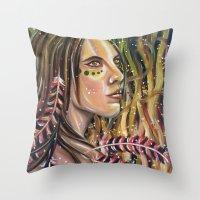 phoenix Throw Pillows featuring phoenix by Beth Jorgensen