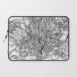 Madrid White Map Laptop Sleeve