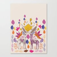 Fall in Love with Fawns Canvas Print