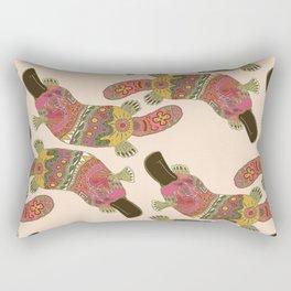 duck-billed platypus linen Rectangular Pillow