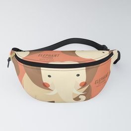Elephant, African Wildlife Fanny Pack