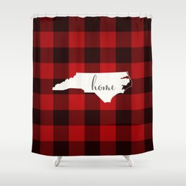 North Carolina is Home - Buffalo Check Plaid Shower Curtain