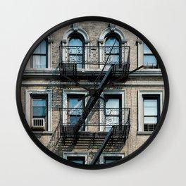 Facades of NY - 01  Wall Clock