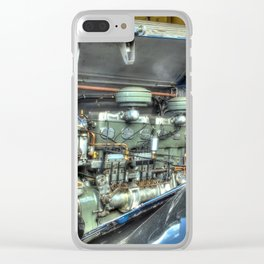 Guy Arab Bus Engine Clear iPhone Case