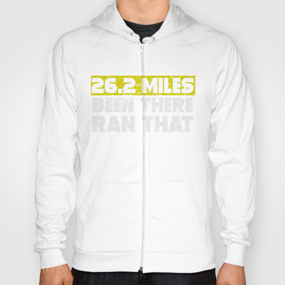 26.2 Miles Been There Run That Marathon Hoody by Awesomeart SSR9012080