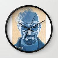 heisenberg Wall Clocks featuring Heisenberg by James Northcote