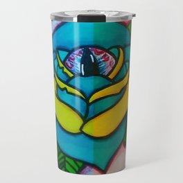 Cat Eye Rose Travel Mug