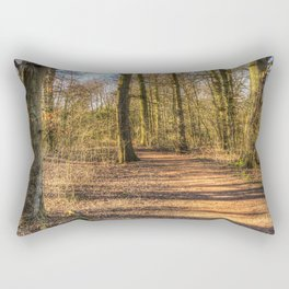 Spring Forest Path Rectangular Pillow