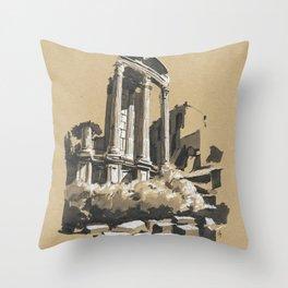 Roman Forum Ruins Throw Pillow