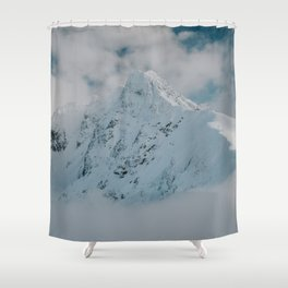 White peak - Landscape and Nature Photography Shower Curtain