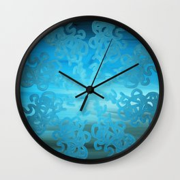 Ice Cold Abstract Wall Clock