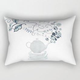 Tea and Books Rectangular Pillow