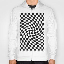 Check VIII - Black Twist — Checkerboard Print Hoody