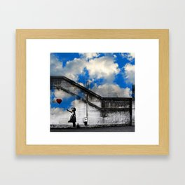 A Balloon to the Wind Framed Art Print