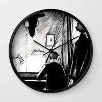 221b Wall Clocks featuring A 221B Scene by Carrianne Bullard