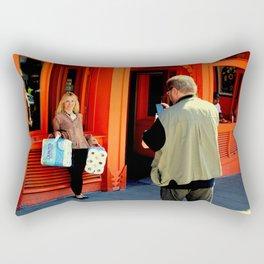 Gotta Thing For Orange Rectangular Pillow
