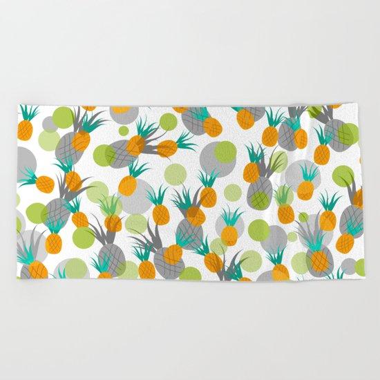Pineapple Storm Beach Towel