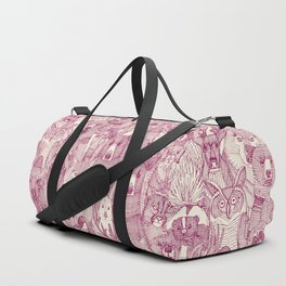 canadian animals cherry pearl Duffle Bag