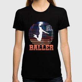 Basketball Coach MVP Dribbling Ring Court Basketball Player Baller Gift T-shirt