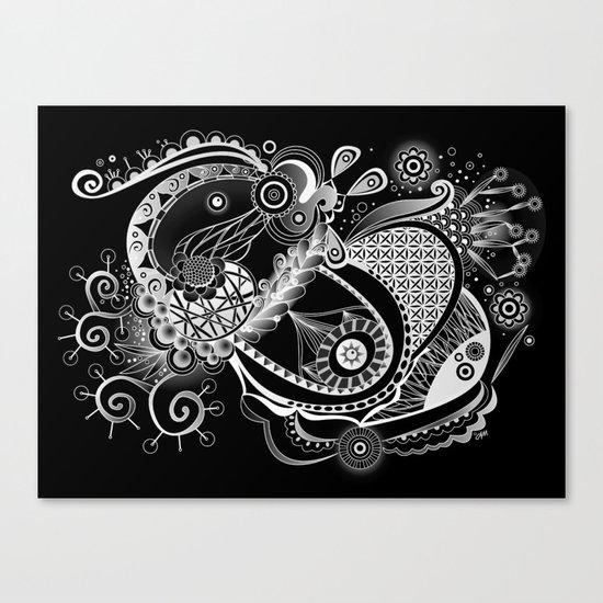 Spring tangle, black Canvas Print