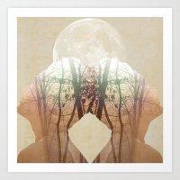 Moon Heads ANALOG ZINE Art Print