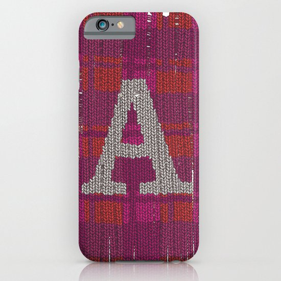 Winter clothes. Letter A III. iPhone & iPod Case