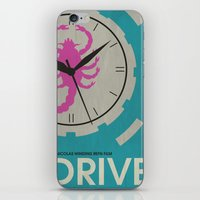 movie posters iPhone & iPod Skins featuring Drive - Minimalist Movie Poster by Minimalist Movie Posters