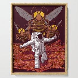 Killer bees on Mars. Serving Tray