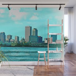 New Orleans Skyline (video game graphic style) Wall Mural