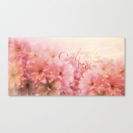 Pink Cherry Blossom for Angels Canvas Print