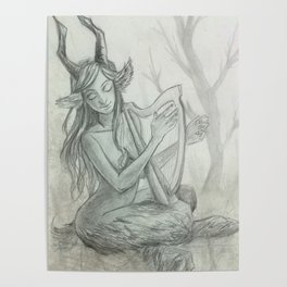 The Faun and Her Music Poster