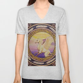 The Guardian - Celtic Griffin mandala Unisex V-Neck