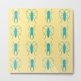 Beetle Grid V2 Metal Print