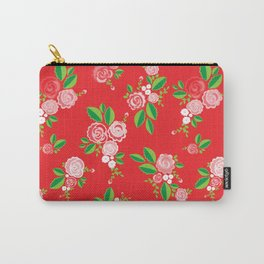 Red Summer Rose Carry-All Pouch