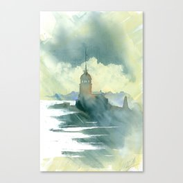 Maiden's Tower, Istanbul Canvas Print