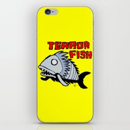 Terror fish iPhone Skin