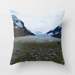 Columbia Icefields in Jasper National Park, Canada Throw Pillow