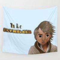 luke hemmings Wall Tapestries featuring Luke Skywalker by BellaG studio