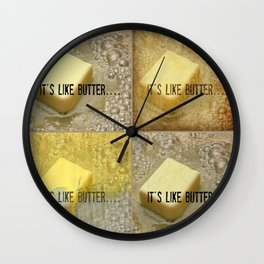 it's like butter - series collage Wall Clock