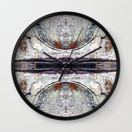 Pattern 34 - Rock in Parry Sound Wall Clock