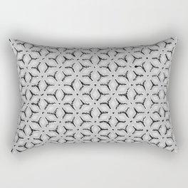 Geometric Florals Black & White Rectangular Pillow