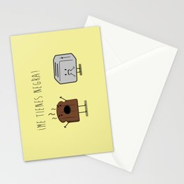 Toast and toaster with text (I'm sick of you) Stationery Cards