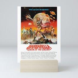 Barbarella - Queen Of The Galaxy - 1968 - Who Can Save the Universe - Vintage Retro Movie Poster, Fi Mini Art Print