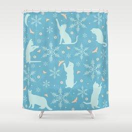 festive flurry Shower Curtain
