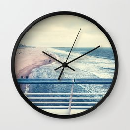 Beach at summer sunset Wall Clock