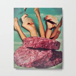 Meat me Metal Print