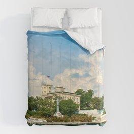 Crimea Russia Monuments Yalta Berth Houses Cities Pier Marinas Building Comforters