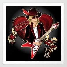 Tom Petty Portrait Art Print